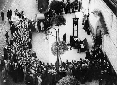 A última execução pública por guilhotina